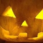 ハロウインかぼちゃのランプ