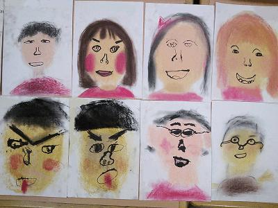 芸術仲間の顔